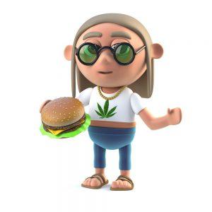 prepare marijuana burgers